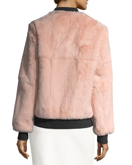 Corban Fur Reversible Bomber Jacket