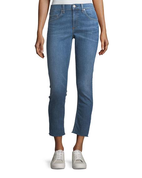 rag & bone/JEAN Mid-Rise Ankle Skinny-Leg Jeans w/