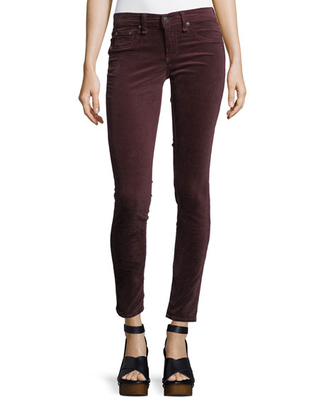 Velvet Mid-Rise Skinny Pants