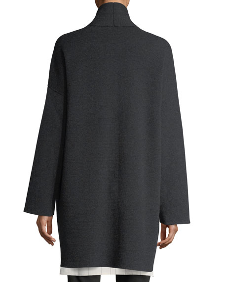 Recycled Cashmere-Blend Double-Knit Coat