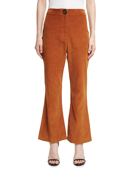 A.W.A.K.E. Octopus Flared Corduroy Trousers