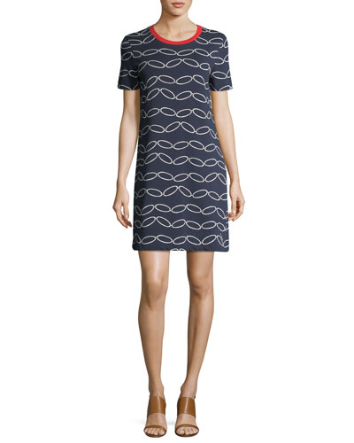 Michaela Short-Sleeve Printed T-Shirt Dress