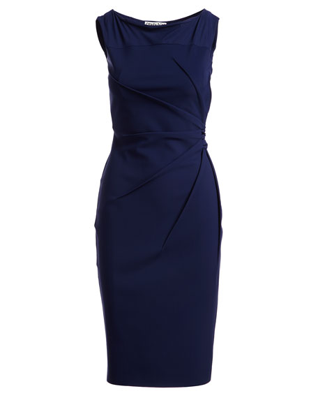 Liberia Sleeveless Bateau-Neck Cocktail Dress