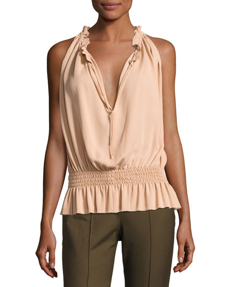 Dezzie Classic Georgette Sleeveless Blouse