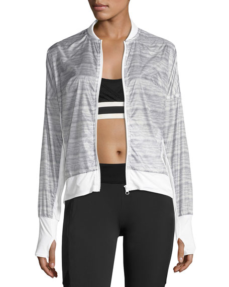 Feather Weight Stripe-Print Jacket