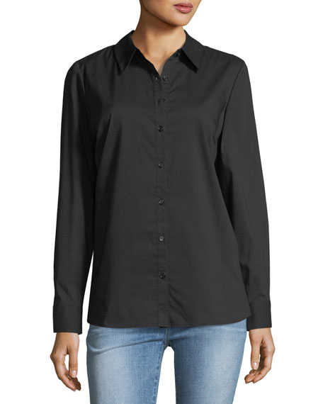 Marled by Reunited Back-Bow Poplin Blouse