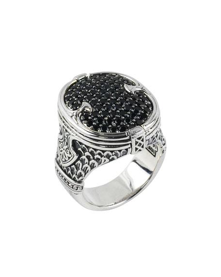 Konstantino Men's Sterling Silver & Pave Spinel Signet