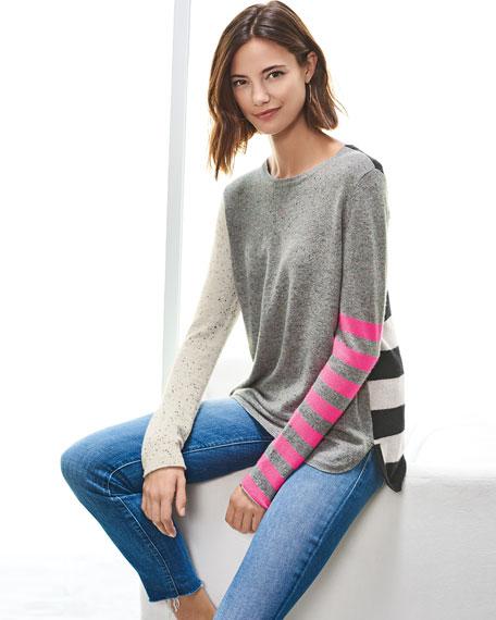 Pop Rocks Cashmere Striped Sweater, Plus Size