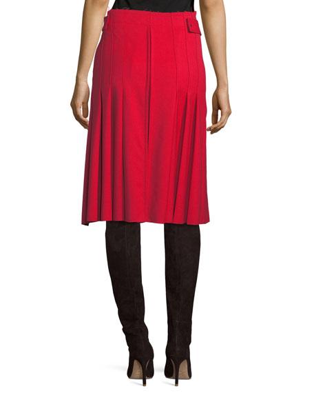 Kilt High-Waist Belted A-Line Pleated Skirt