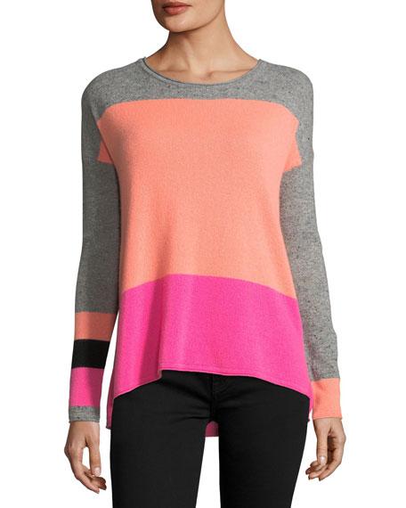 Rock Star Colorblock Cashmere Sweater