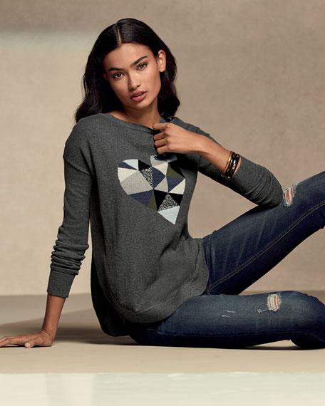 Prism Heart Cotton-Blend Sweater