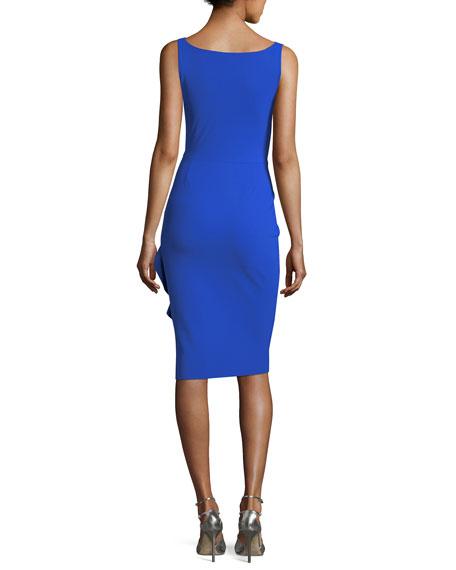 Marem Sleeveless Asymmetric Ruffle Cocktail Dress