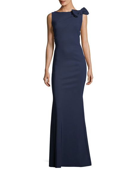 Chiara Boni La Petite Robe Shoko Bow-Shoulder Sleeveless