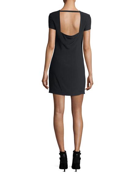 Crewneck Short-Sleeve Mini Dress