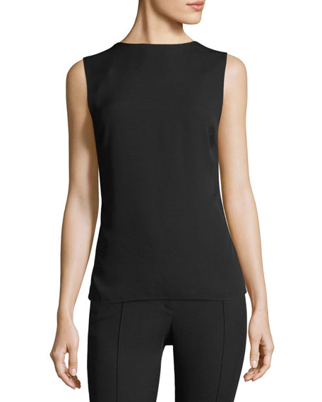 High-Neck Square-Back Sleeveless Top