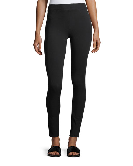 Helmut Lang Reflex Mid-Rise Zip-Cuffs Leggings and Matching
