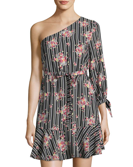Collective Concepts One-Shoulder Print Dress