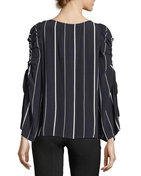 Striped Cold-Shoulder Blouse