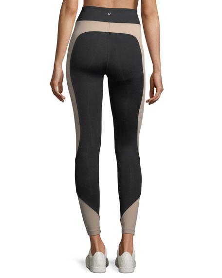Curve Crop Color-Panels Performance Leggings