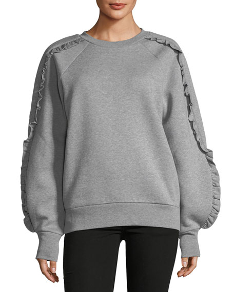 Burberry Kupa Frill-Trim Sweatshirt