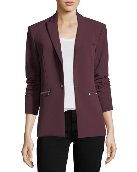 One-Button Tailored Scuba Blazer