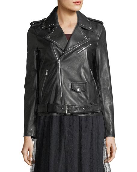 Studded Lambskin Leather Jacket