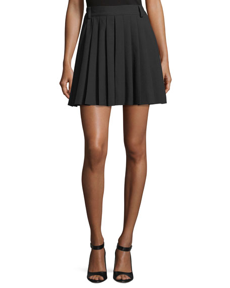 REDValentino Pleated Cady Tech Skort