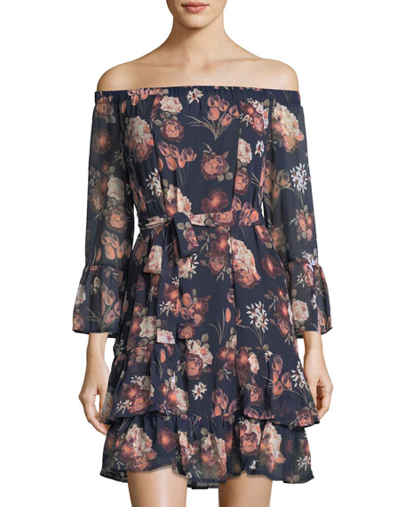 Collective Concepts Layered Off-the-Shoulder Dress