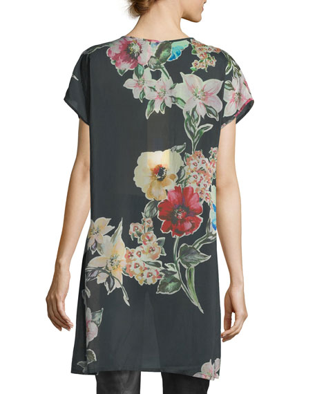 Cambria Floral-Print Blouse, Plus Size