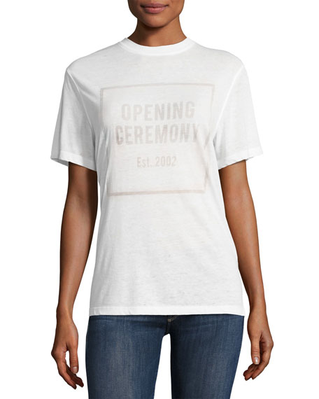 Opening Ceremony OC Logo Burnout Crewneck Short-Sleeve Tee