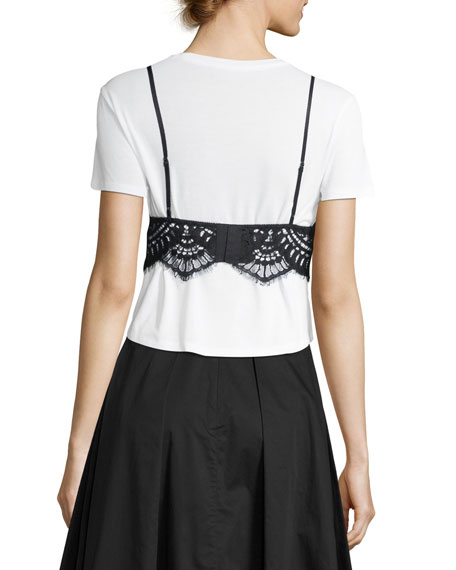 Lace Camisole Combo T-Shirt
