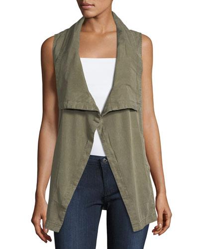Wilder Tencel® Drape-Front Vest