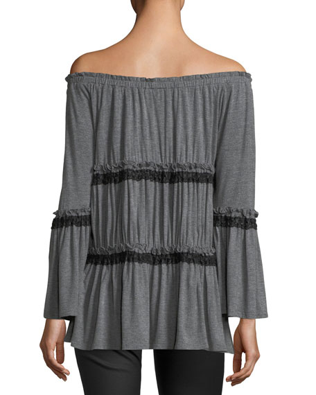 Tiered Off-the-Shoulder Tunic