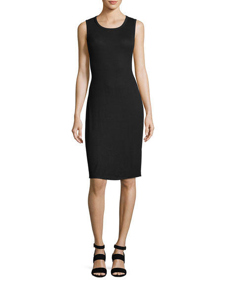 2X1 Sleeveless Rib Knot-Back Tank Dress