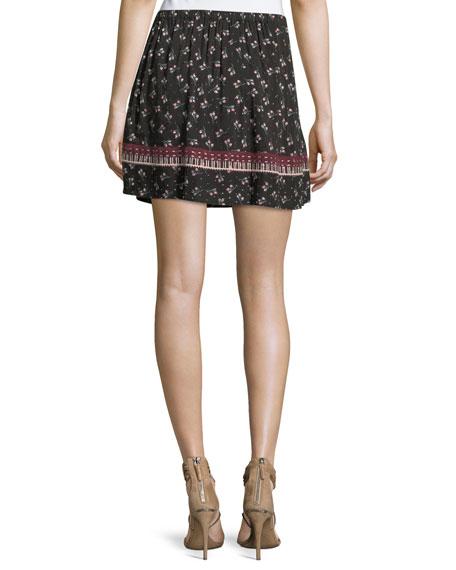 Florica Floral-Printed Mini Skirt