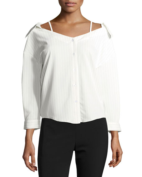 Striped Off-the-Shoulder Blouse