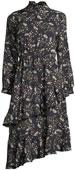 Frill-Trim Floral-Print Dress