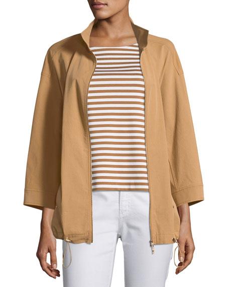 Xyler Italian Pima Cotton Jacket, Plus Size