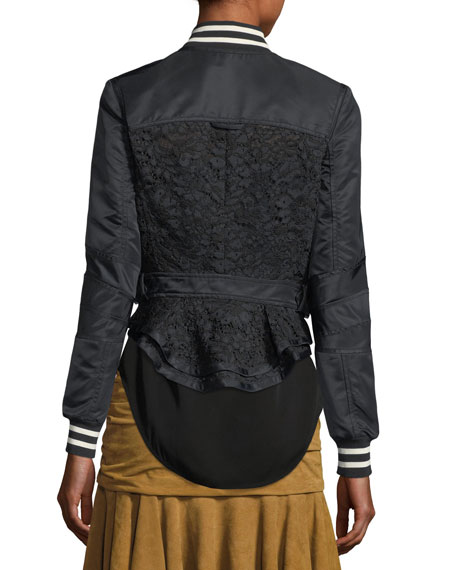 Jones Mixed-Media Lace Jacket