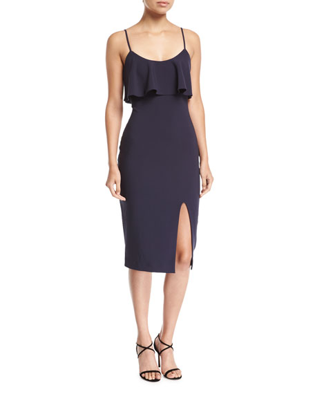 Likely Dionne Sleeveless Scoop-Neck Midi Cocktail Dress