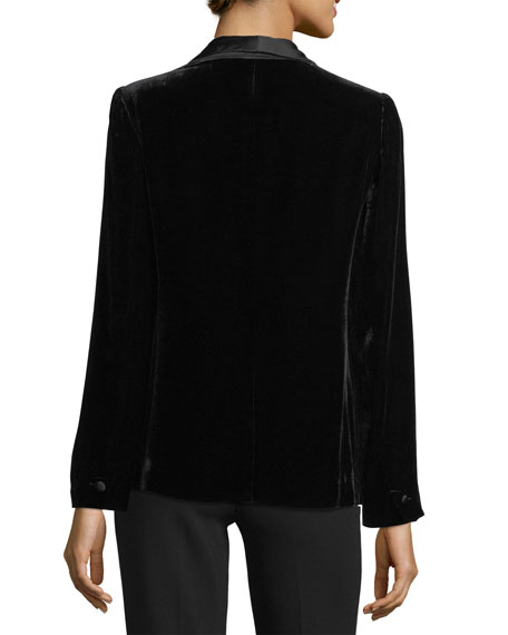 Image 2 of 3: Mehira B Tailored Velvet Blazer