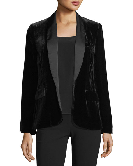 Image 1 of 3: Mehira B Tailored Velvet Blazer