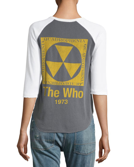 The Who 1973 Graphic Raglan Tee