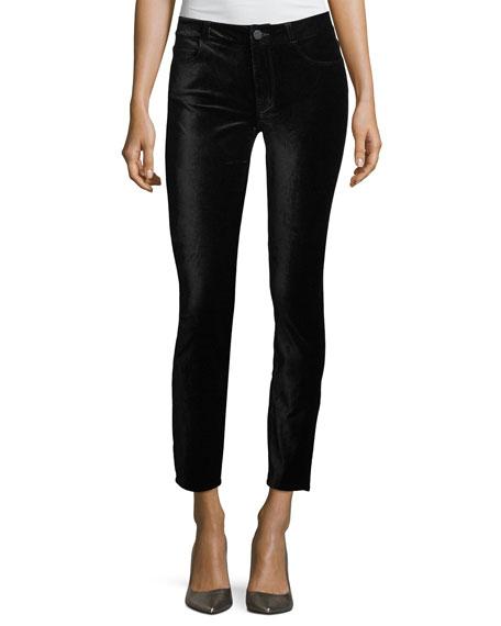 PAIGE Verdugo Mid-Rise Ankle Velvet Pants