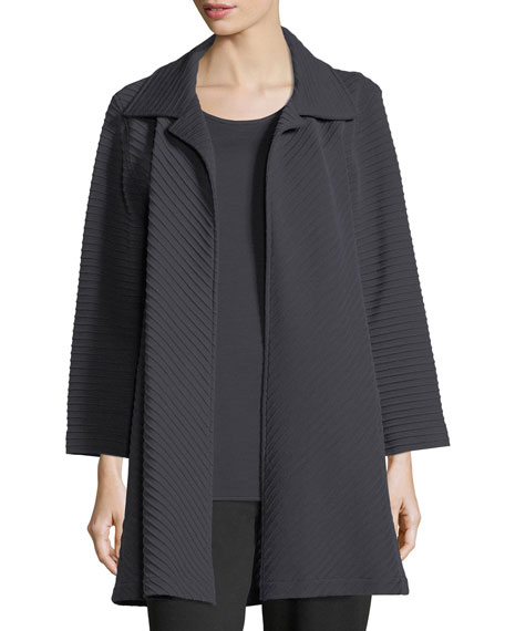 Caroline Rose Wool-Knit Ottoman Topper Jacket