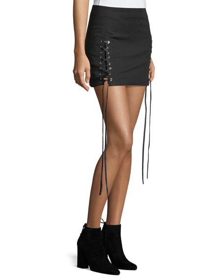 Corset Lace-Up A-Line Mini skirt