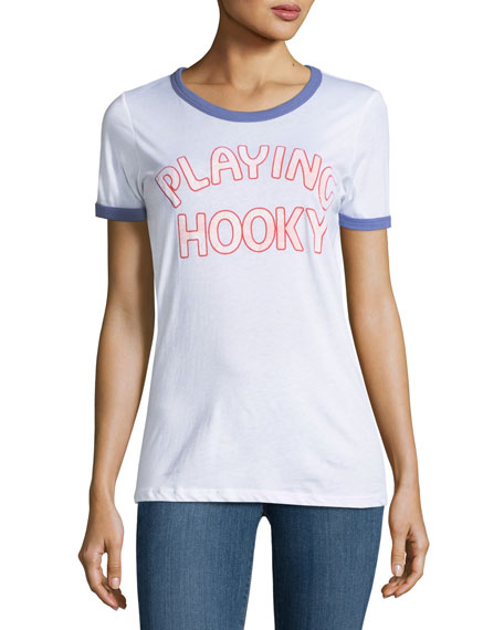 Junk Food Playing Hooky Graphic Tee