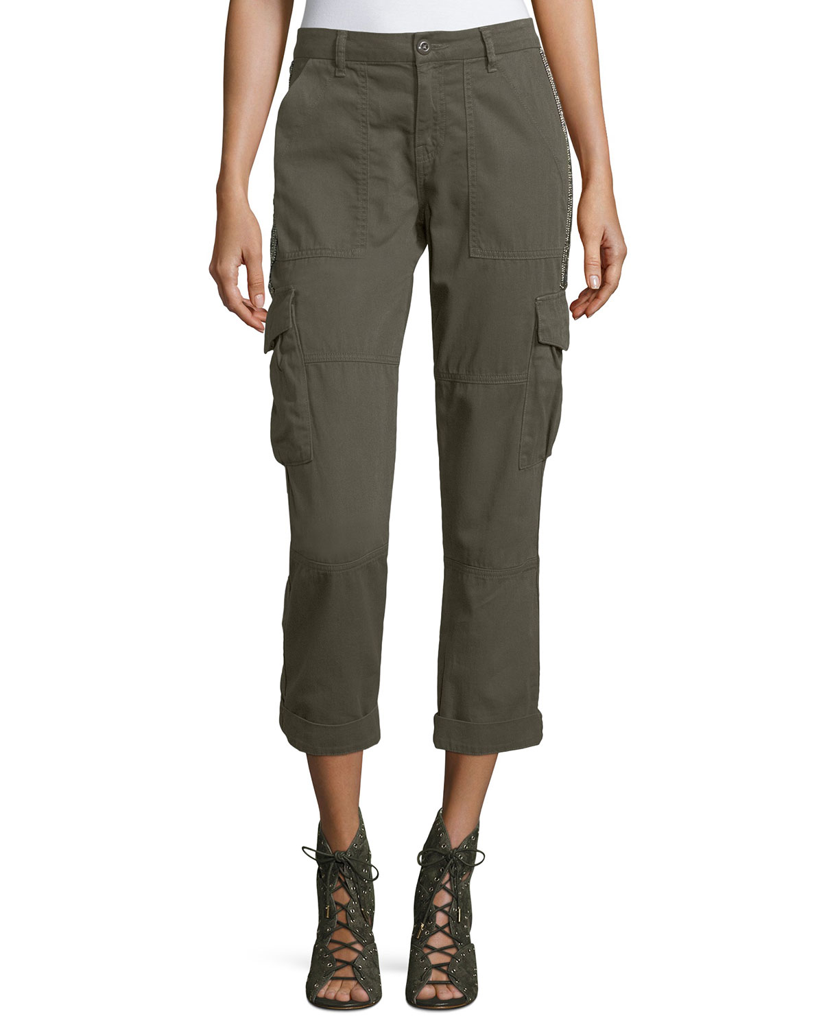 Cargo trousers Smooth fit olive Brunello Cucinelli Outlet Purchase qyaqDRMRy