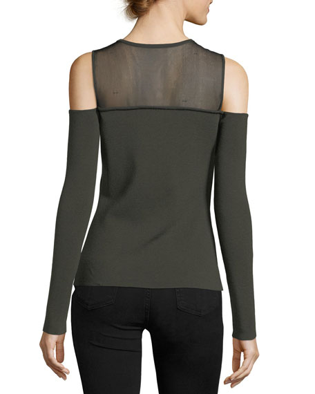 Swallowed Whole Cold-Shoulder Wool-Blend Sweater