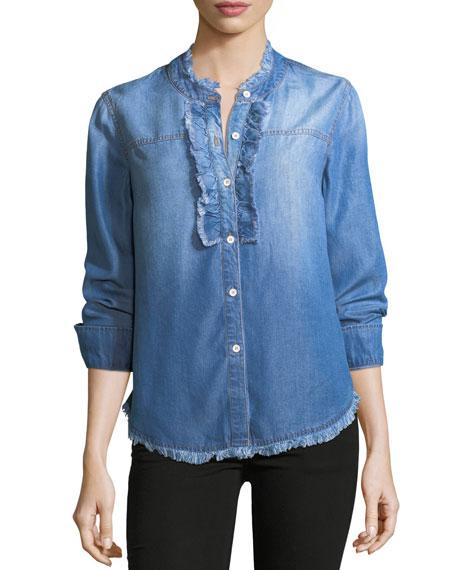 Splendid Button-Front Long-Sleeve Denim Shirt